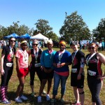Legs, Rae Action, Jams, and Cher Khan with their running buddies for the 5K